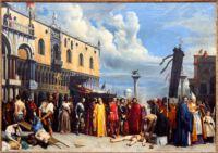 Alexandre Hesse, Das Begräbnis des Tizian. Louvre, Paris. (Quelle: Alamy, ID 2AB8M3P)